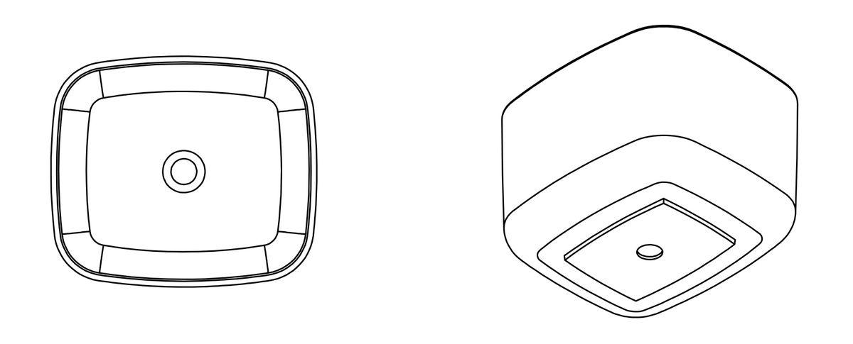 Aufsatzwaschbecken PB2094 aus Mineralguss - 46 x 40 x 30,3 cm - Weiß matt – Bild 5