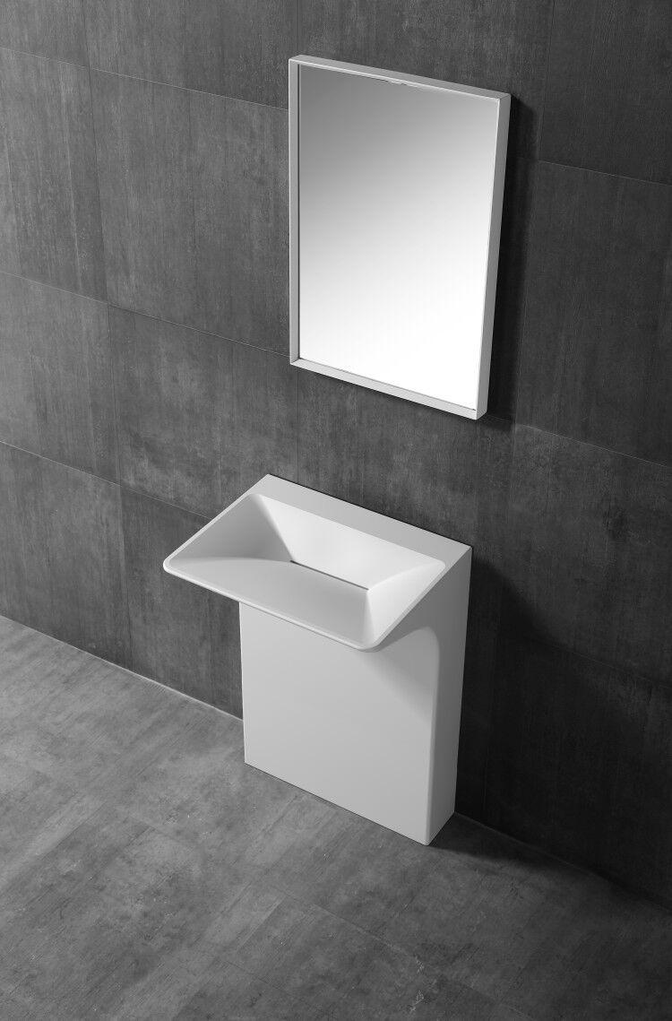 vasque au sol salle de bain Vasque au sol BERNSTEIN en pierre solide TWZ29 - 60 x 47 x 85 cm