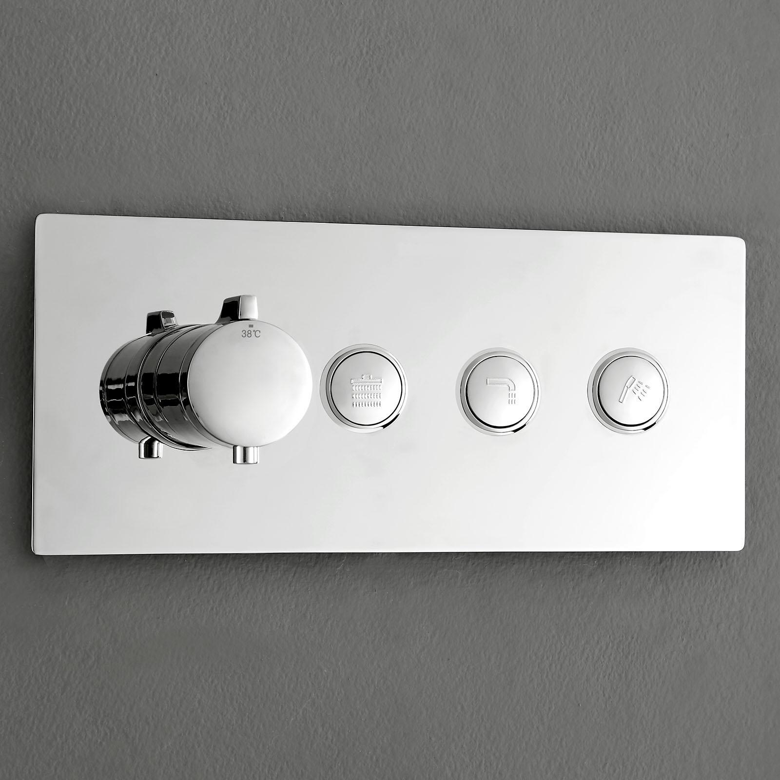 Hochwertige Thermostat-Unterputz-Duscharmatur NT7177 für 3 Verbraucher - inkl. Unterputz-Grundkörper