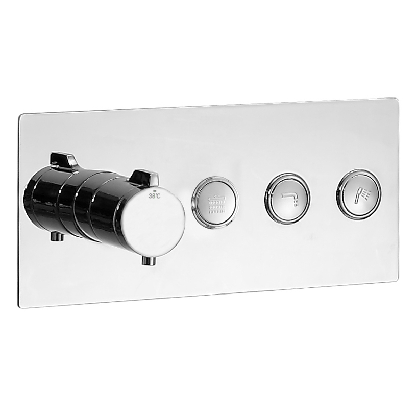 3 Outlet Thermostatic Concealed Shower Valve NT7177  – Bild 2