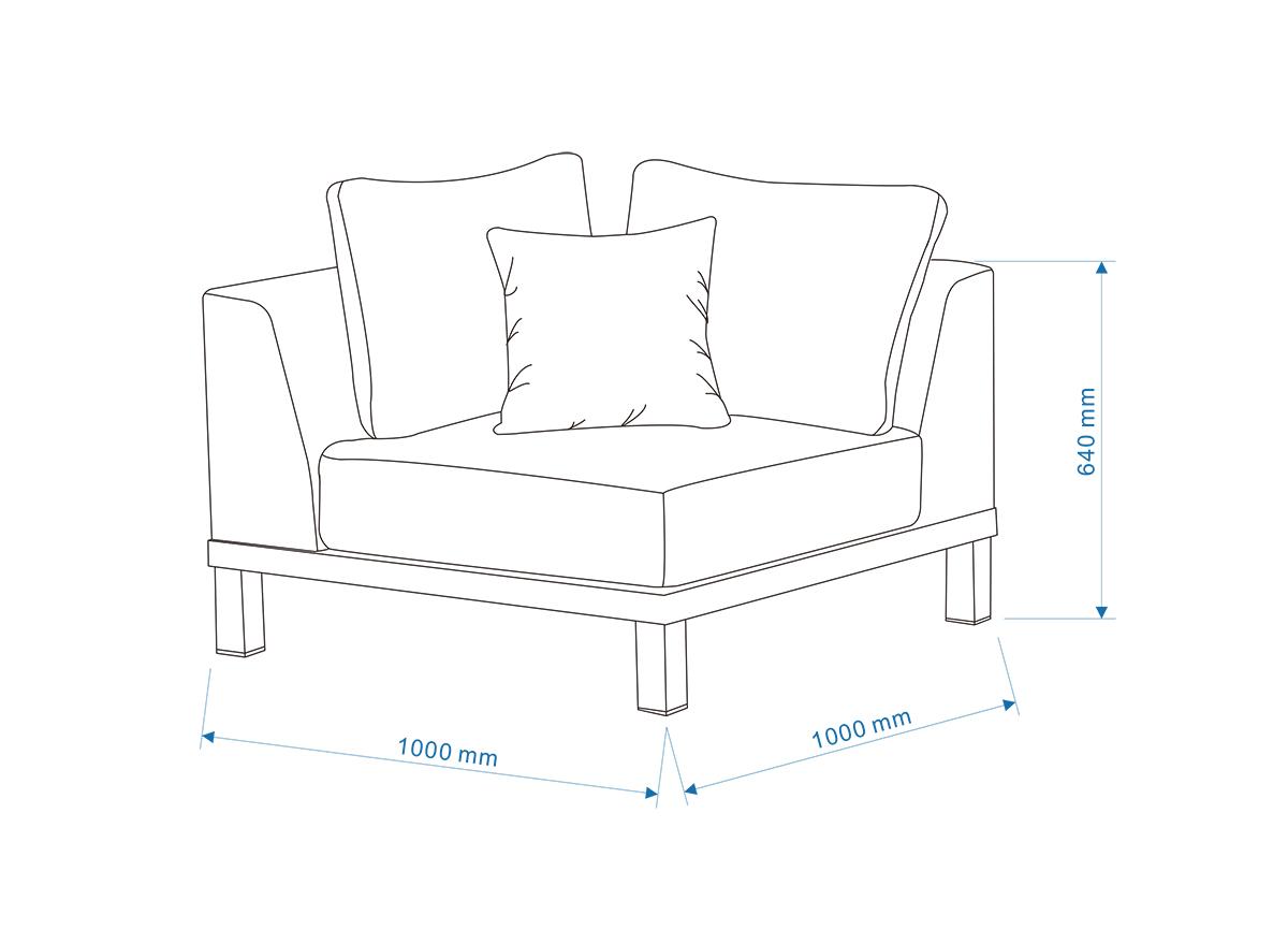 BERNSTEIN Gartenmöbel-Set POLO - Teak-Gartenlounge (6-teilig) - Größe Loungetisch zur Auswahl – Bild 9