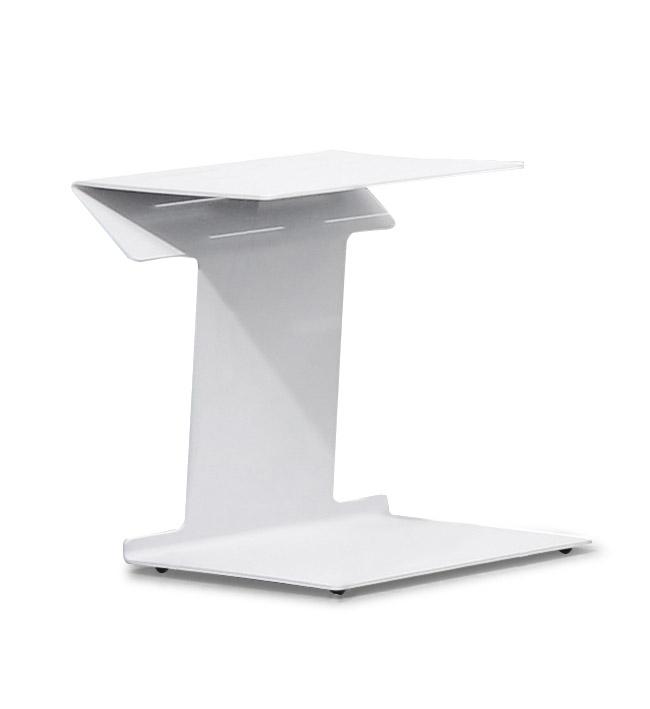 Gartenstuhl Klappstuhl CLINT - 2er Set Regiestühle Alu/Textil Weiß - Fußhocker & Beistelltisch wählbar – Bild 4