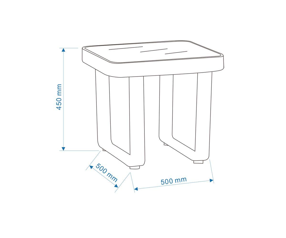 Gartenmöbel-Set AIRPORT - Gartenlounge Alu/Textil Grau (5-teilig) - inkl. Gartentisch & Beistelltisch – Bild 11