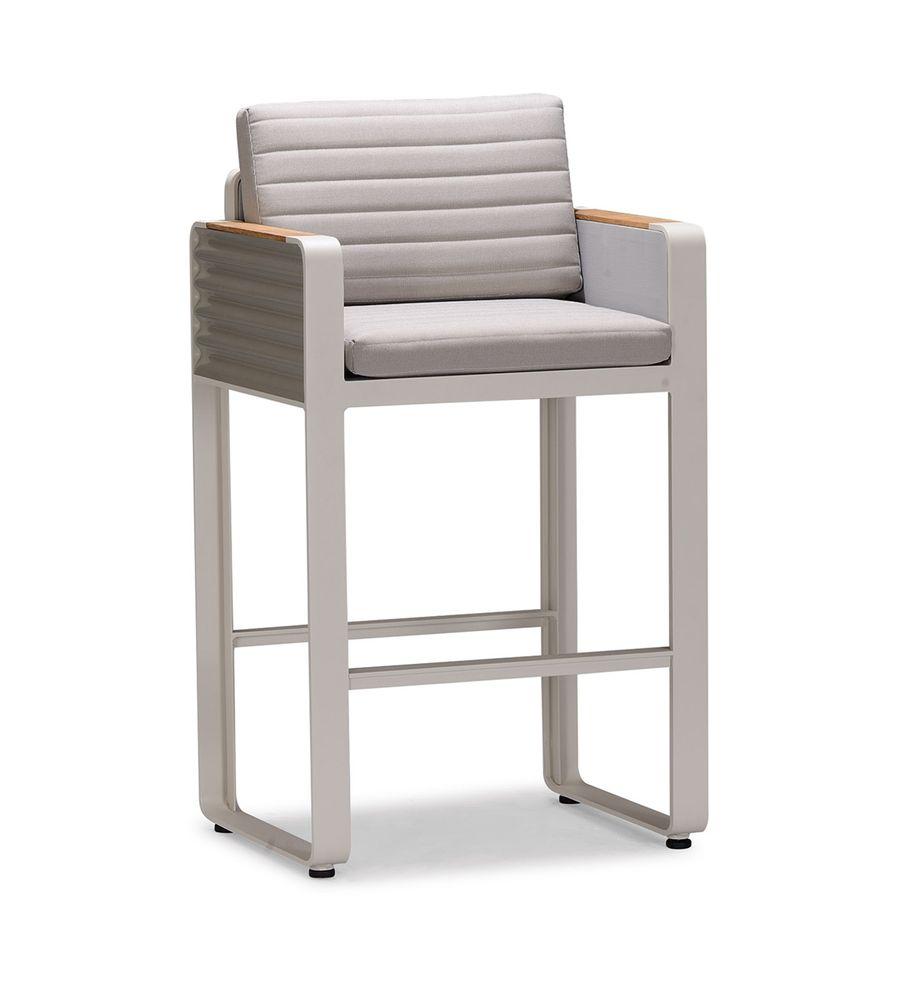 Gartenmöbel-Set Gartenbar Set AIRPORT - Bar Set aus Alu/Textil - Garten Barhocker zur Auswahl – Bild 2