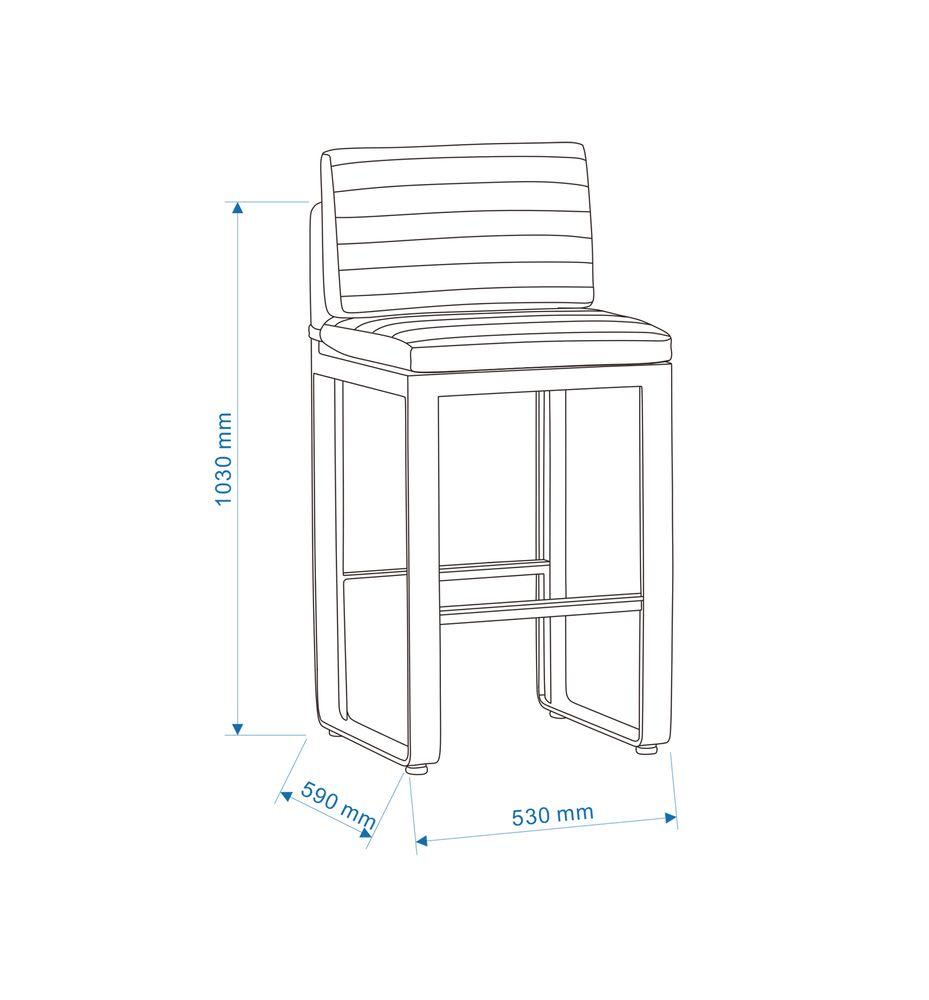 Gartenmöbel-Set Gartenbar Set AIRPORT - Bar Set aus Alu/Textil - Garten Barhocker zur Auswahl – Bild 7