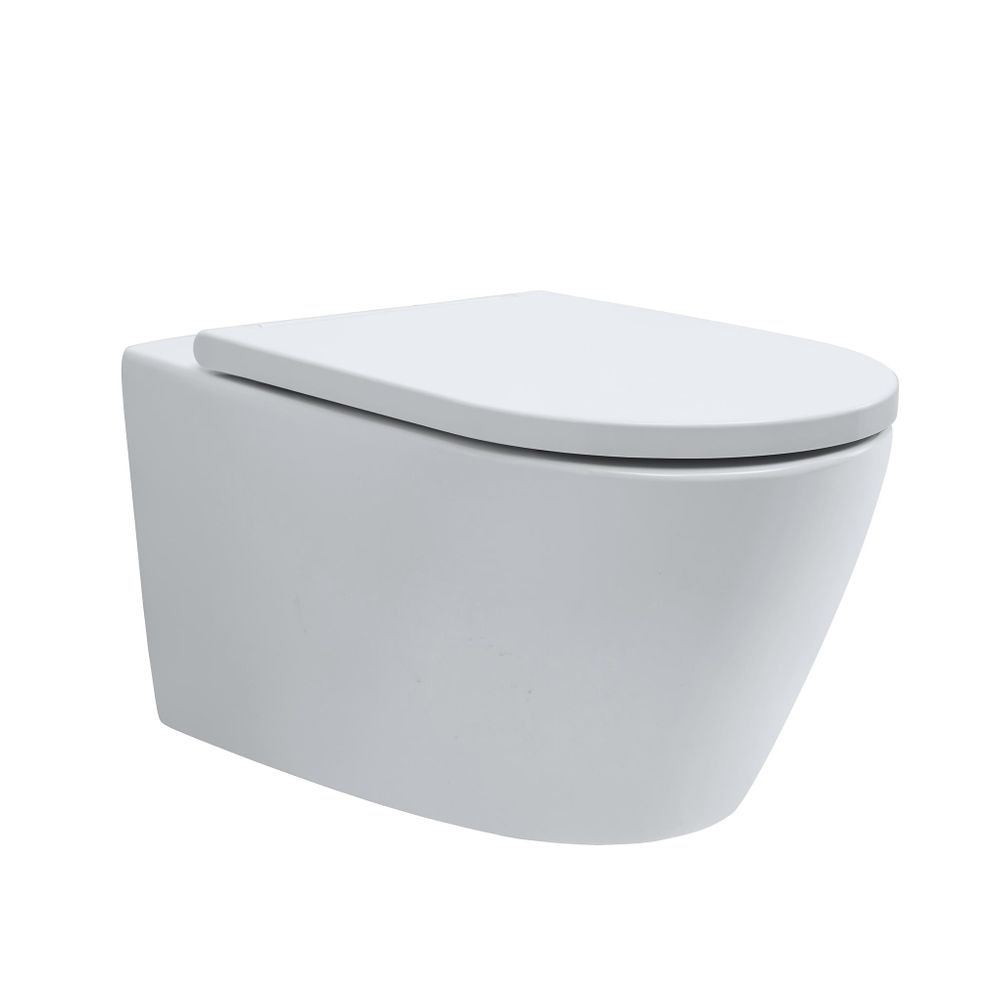 Wall-hung rimless toilet with NANO coating - Soft close toilet seat - B-8030R white – Bild 2
