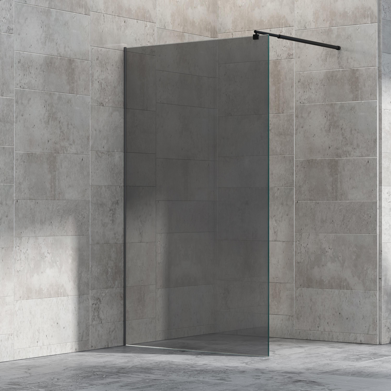 Paroi de douche fixe sans porte - nano protection-verre véritable de ...