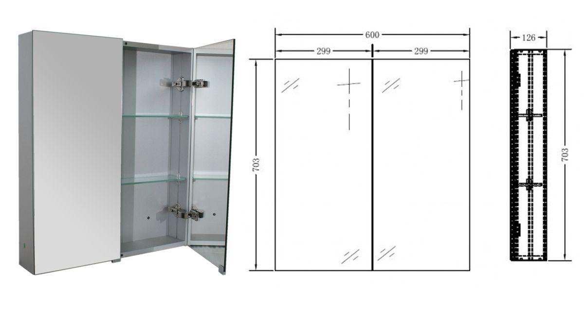 Badmöbel-Set Luna 600 Grau matt - Spiegel optional – Bild 15