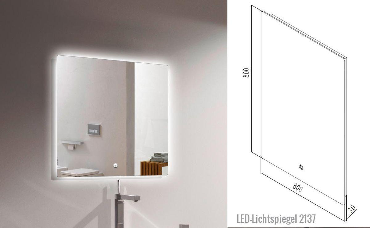 Badmöbel-Set Luna 600 Grau matt - Spiegel optional – Bild 12