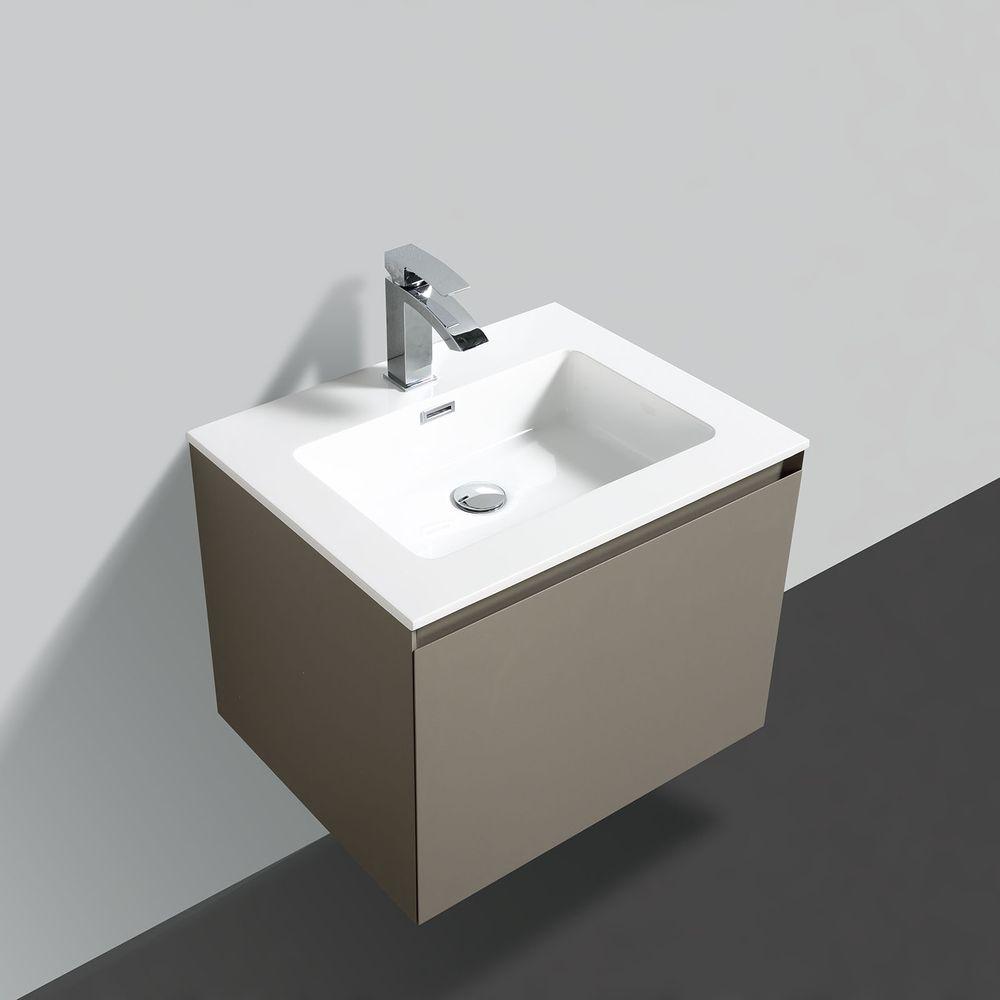Badmöbel-Set Luna 600 Grau matt - Spiegel optional – Bild 3