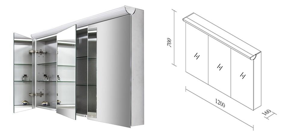 Meuble de salle de bain Luna 1200 blanc mat - Miroir en option – Bild 12