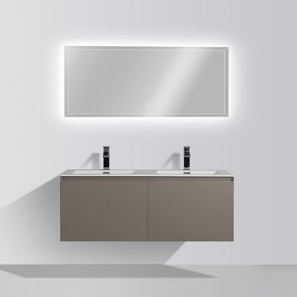 Badmöbel-Set Luna 1200 Grau matt - Spiegel optional – Bild 2