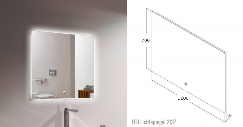 Badmöbel-Set Luna 1200 Grau matt - Spiegel optional – Bild 10