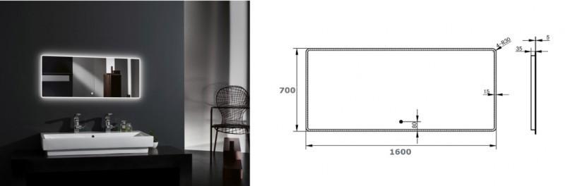 Meuble de salle de bain Luna 1600 blanc mat avec plan vasque en solid surface - vasque & miroir disponible en option – Bild 9