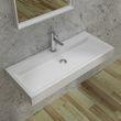 Waschbecken Hängewaschbecken PB2144 aus Mineralguss Solid Stone – Weiß Matt – 100 x 42 x 10 cm 001