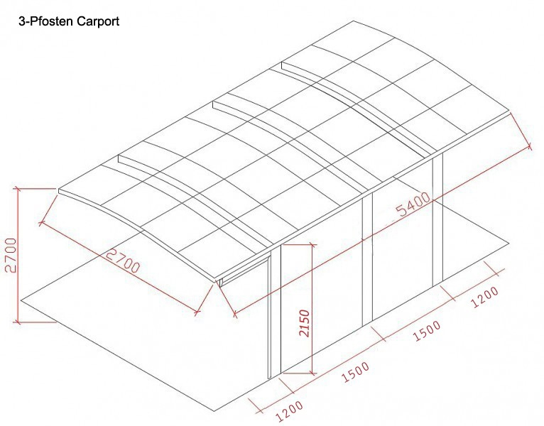 BERNSTEIN Doppelcarport Aluminium freistehend - Farbe wählbar – Bild 11