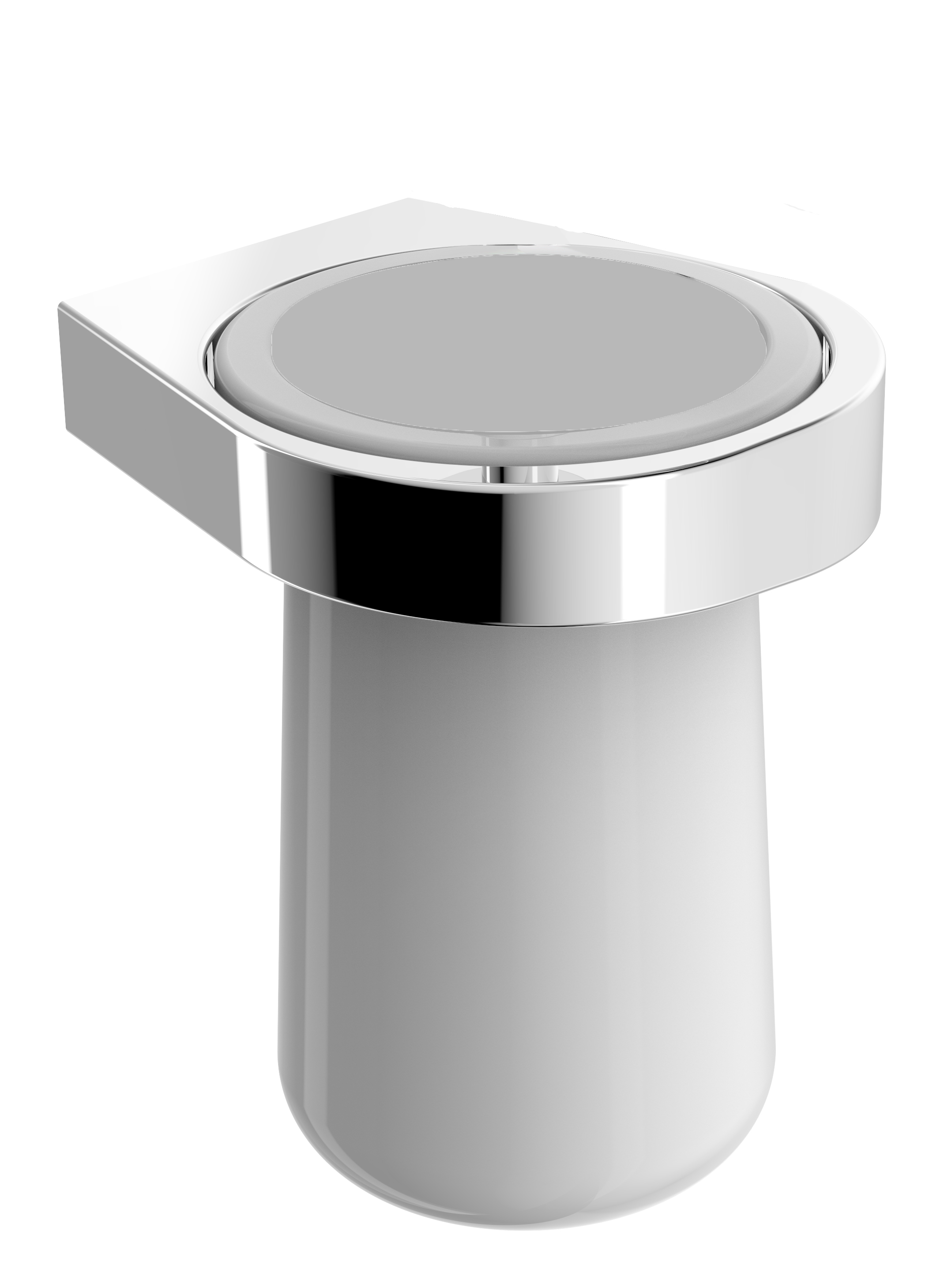 Hochwertiger Zahnbürstenhalter mit Wandhalter SDEZPB aus Keramik – Serie ES - chrom