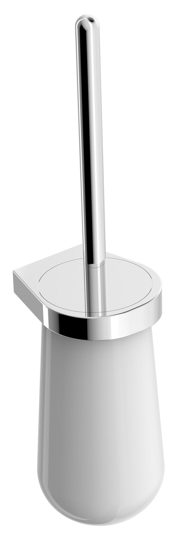 Moderner WC-Bürstenhalter SDETBH aus Keramik mit Bürste – rundes Design - Serie ES - chrom