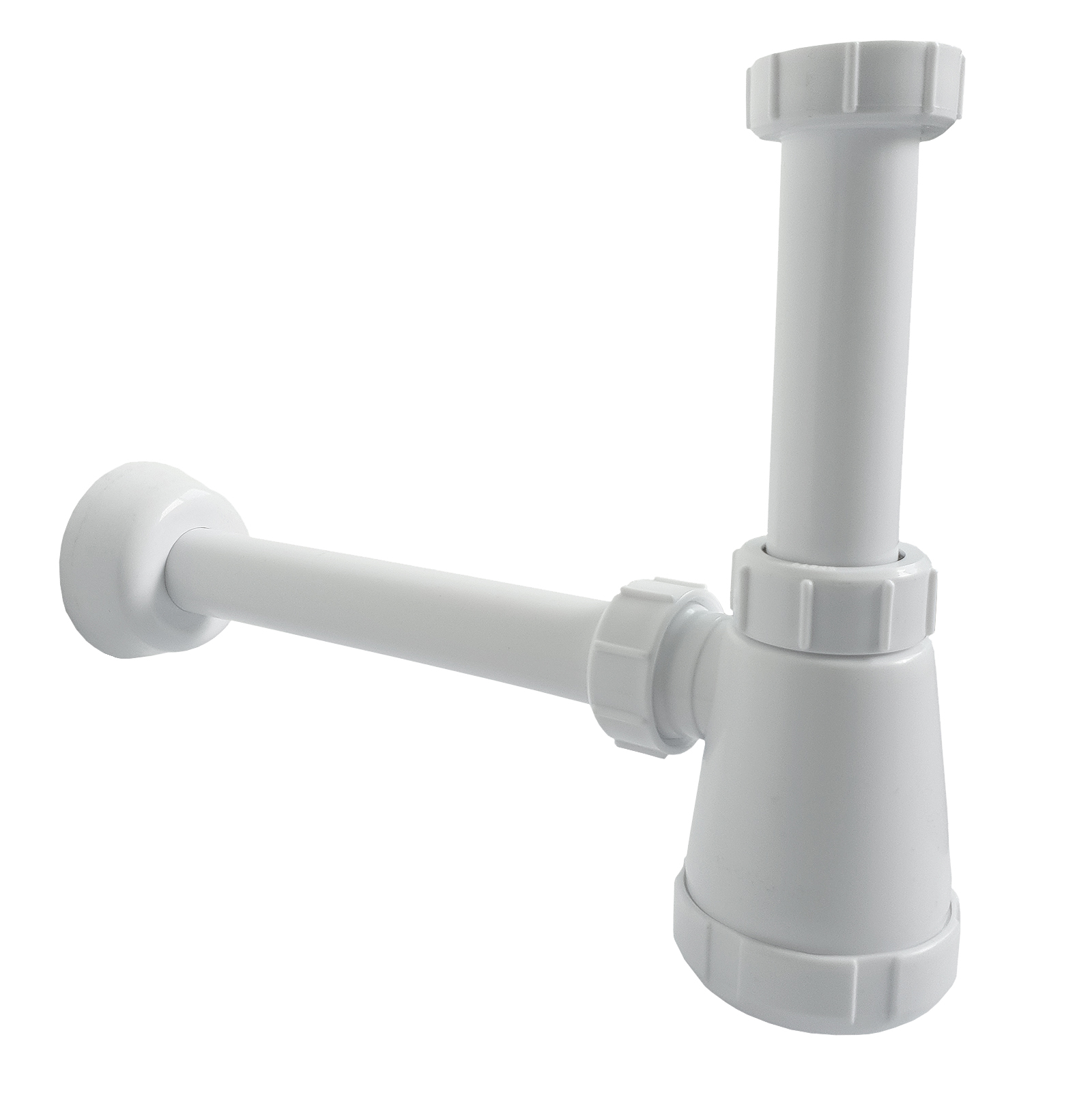 Plastic siphon bottle siphon 1014 for sinks with 1 1/4 inch connection