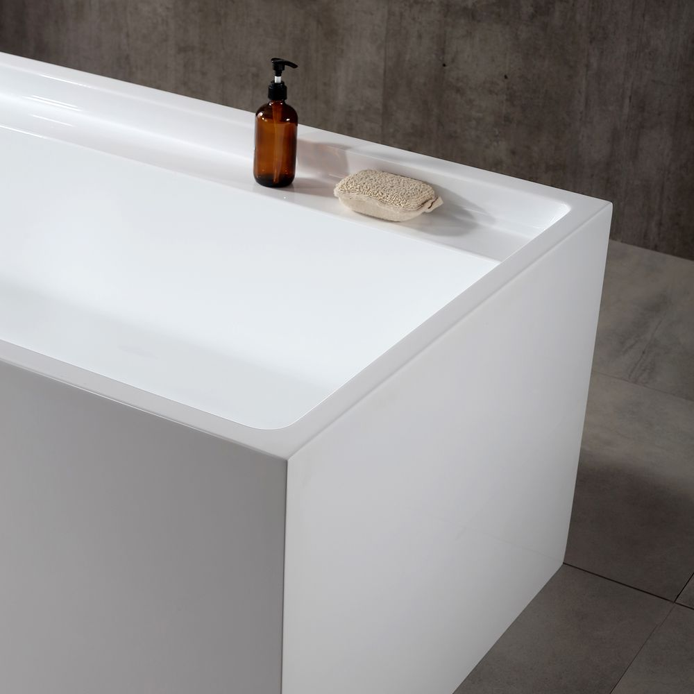 Freestanding bath VERONA - sanitary acrylic - 170 x 80 x 60 cm - optional taps – Bild 5