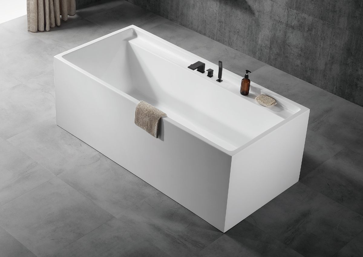 Freestanding bath VERONA - sanitary acrylic - 170 x 80 x 60 cm - optional taps – Bild 6