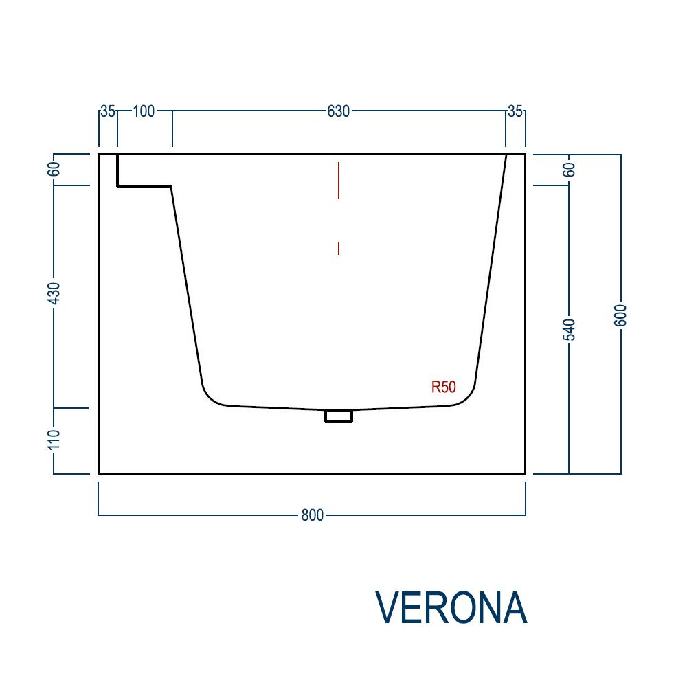 Freestanding bath VERONA - sanitary acrylic - 170 x 80 x 60 cm - optional taps – Bild 10