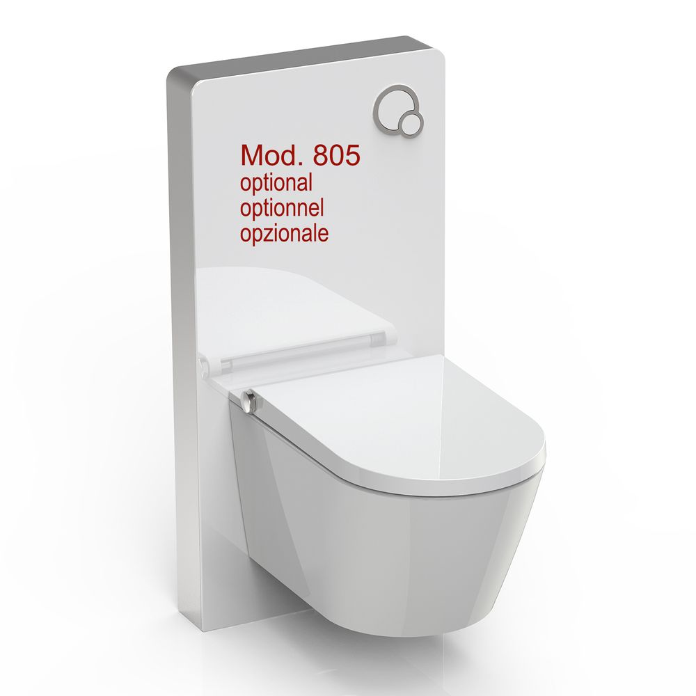 Shower toilet BERNSTEIN Basic 1102 - toilet integrated bidet function - white - rimless - japanese WC – Bild 12