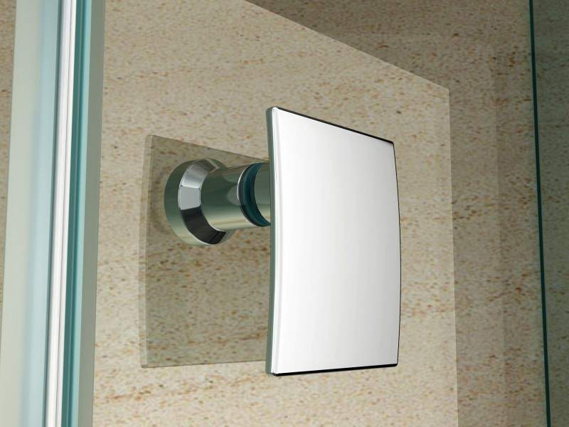 Paroi de douche sans cadre pentagonale en verre véritable NANO EX415 - 80x80x195cm – Bild 3