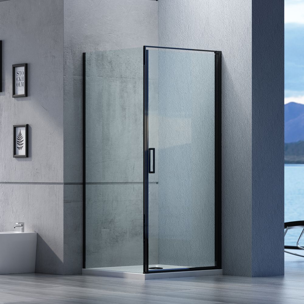 Corner shower enclosure EX416S Black - NANO coating - 6mm transparent safety glass -  90 x 90 x 195 cm – Bild 1