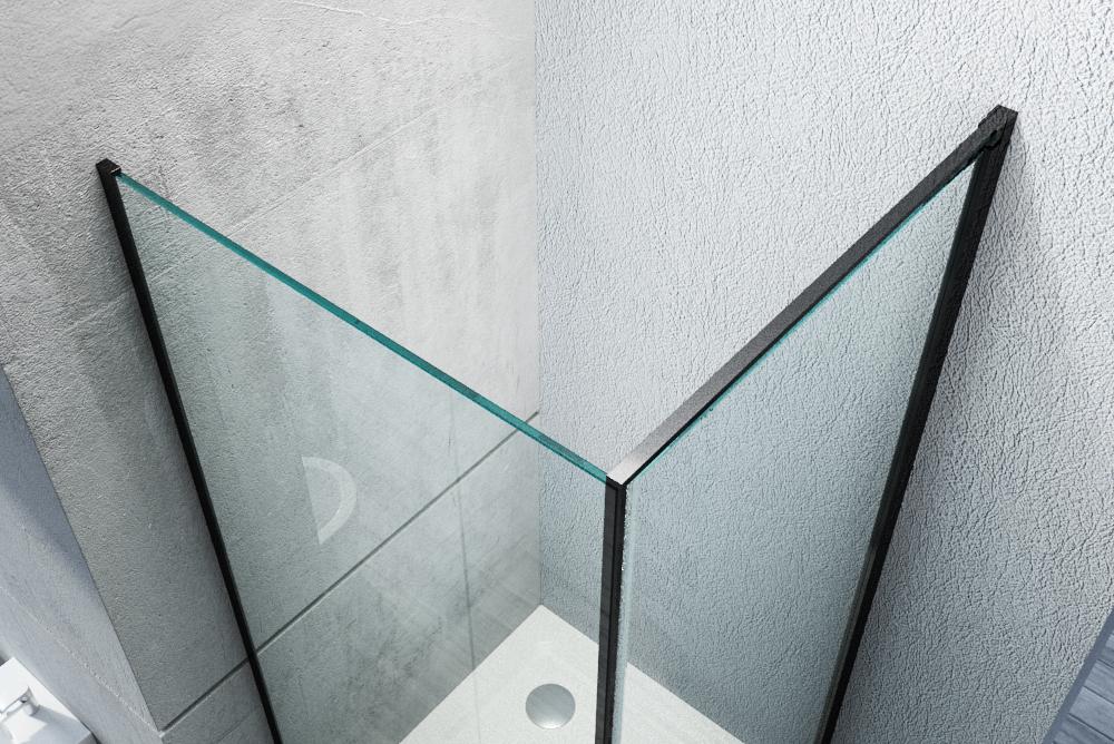 Duschkabine Eckdusche Nano Echtglas EX416S Schwarz - 90 x 90 x 195 cm – Bild 4