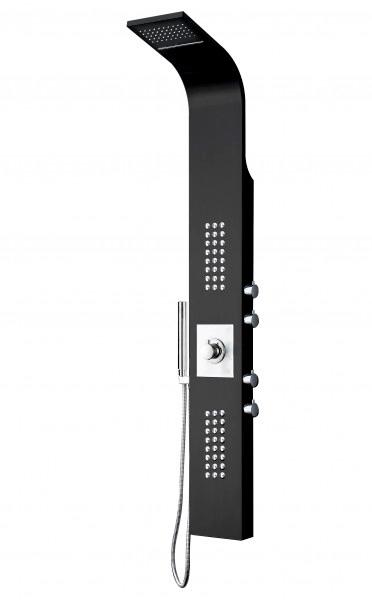 Duschpaneel Edelstahl Schwarz Duschsystem mit SEDAL-Thermostat Duschsäule 8815 – Bild 1