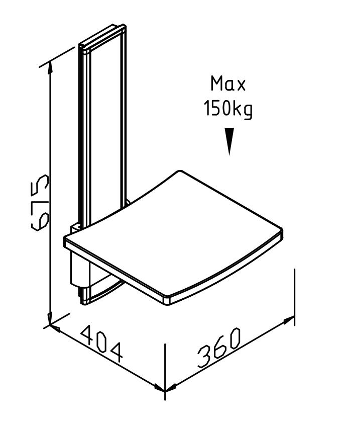 BERNSTEIN Duschklappsitz Duschsitz SA-B360+ höhenverstellbar - Rückenlehne & Sitzauflage optional – Bild 9