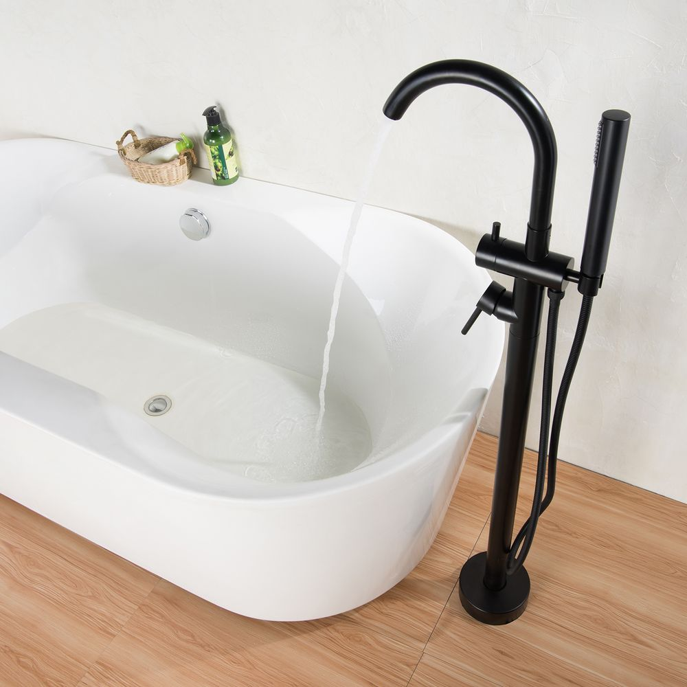 Freestanding bath shower mixer tap 8028B black – Bild 2