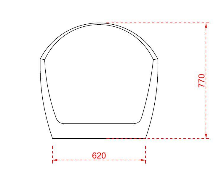 Freistehende Badewanne VICE Acryl Weiß - 183,5 x 78,5 cm - Oberfläche & Standarmatur wählbar – Bild 7