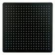 Tête de douche carrée, extra-plate en acier inoxydable DPG2001 - 40x40cm - noir mat