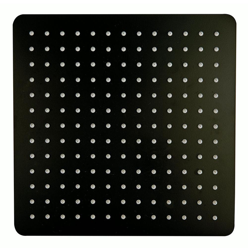XXL-Regendusche Edelstahl-Duschkopf DPG2005 superflach in Schwarz - 30 x 30 cm – Bild 1