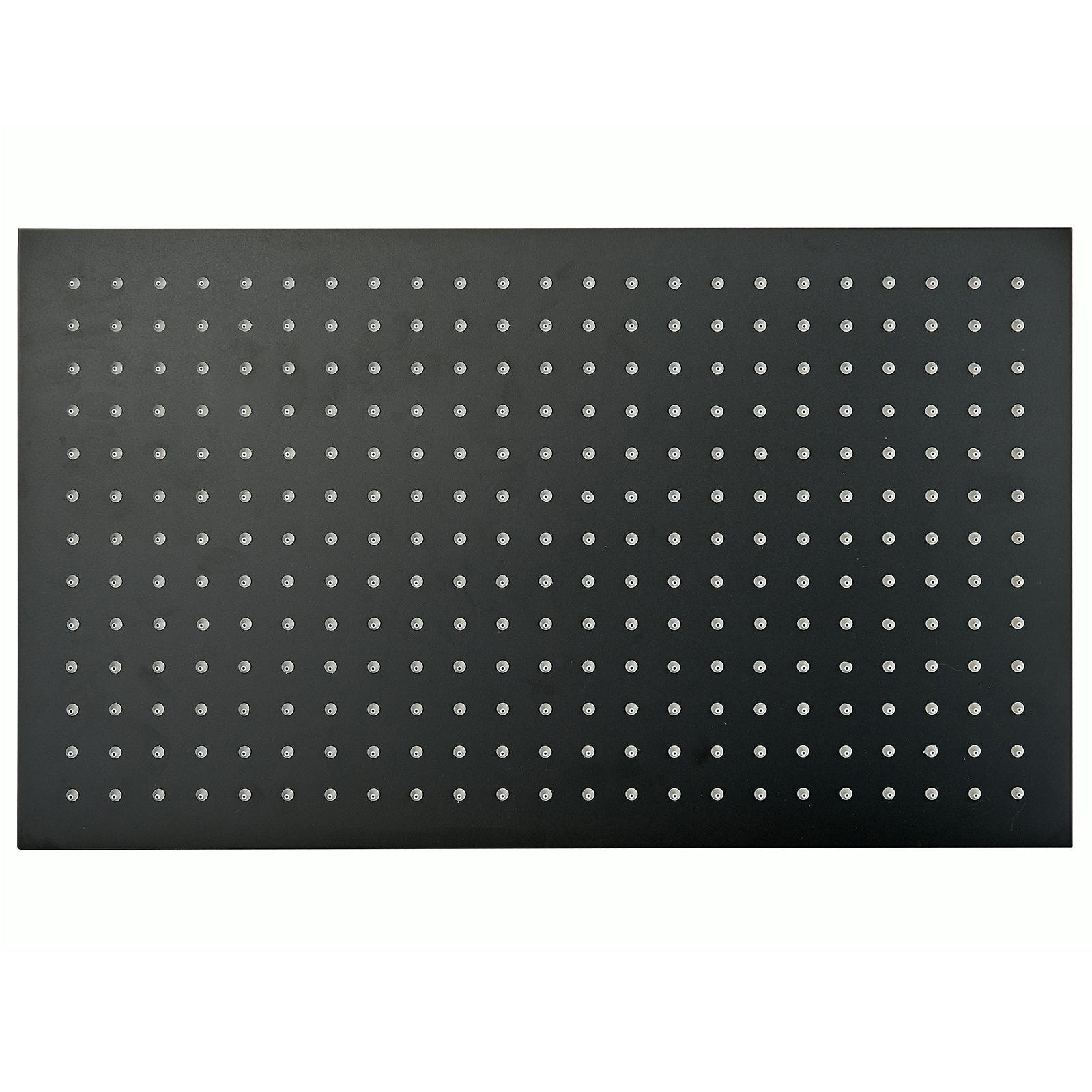 XXL-Regendusche Edelstahl-Duschkopf DPG2051 superflach in Schwarz - 50 x 30 cm