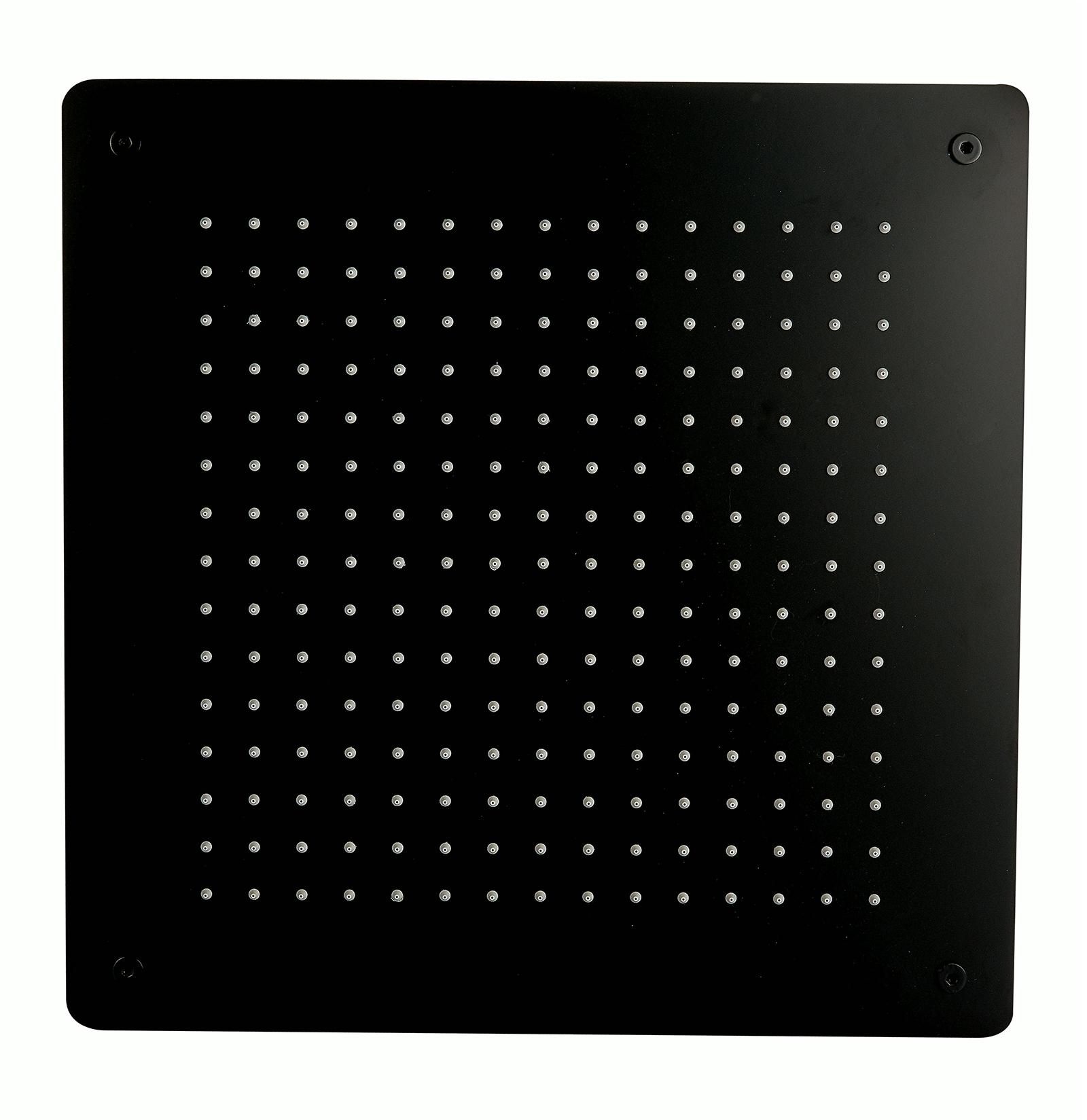 Tête de douche carrée, extra-plate en acier inoxydable DPG5005 - 50x50cm - noir