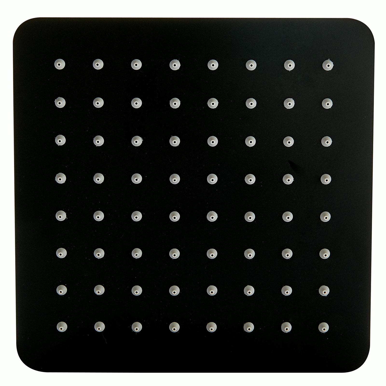 Regendusche Edelstahl-Duschkopf DPG2023 superflach in Schwarz - 20 x 20 cm