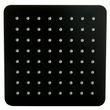 Tête de douche carrée, extra-plate en acier inoxydable DPG2023 - 20x20cm - noir