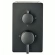 Black Concealed Thermostatic Shower Mixer UP 13-01 with 3-way diverter - round handles