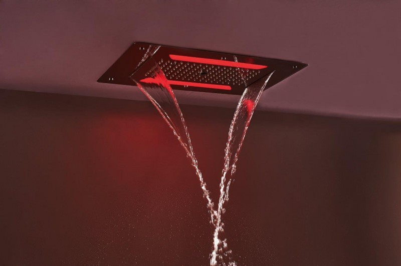 XXL LED Rain Shower Head DPG5030 - 70 x 38 cm - black – Bild 6