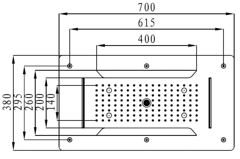 XXL-Regendusche Edelstahl-Deckenbrause DPG5030 superflach schwarz - 70 x 38 cm - Deckeneinbau – Bild 10