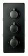 Edle Thermostat-Unterputz-Duscharmatur UP11-01 schwarz mit 6 Wege-Umsteller