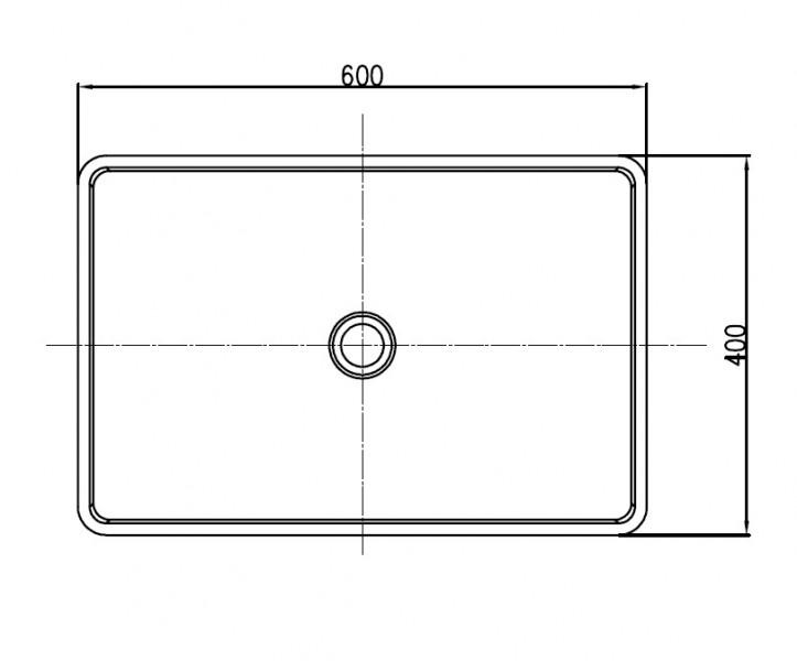 Vasque à poser PB2012B en pierre solide (Solid Stone) – 60 x 40 x15 cm – couleur sélectionnable – Bild 3