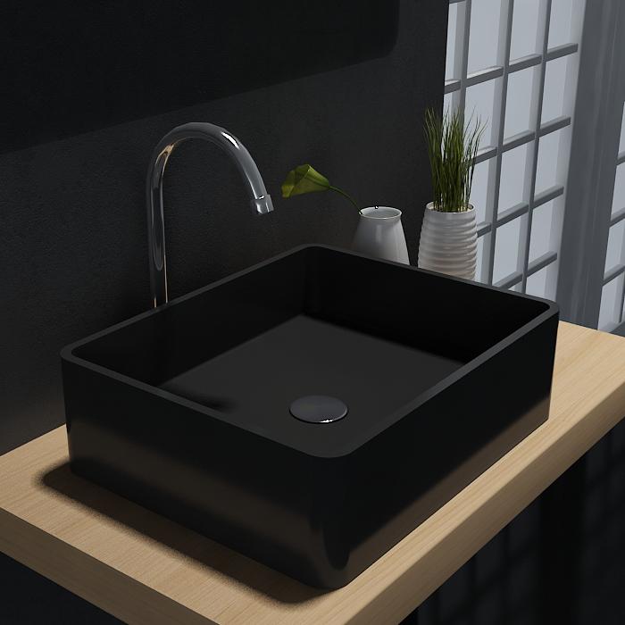 Vasque à poser PB2012B en pierre solide (Solid Stone) – 60 x 40 x15 cm – couleur sélectionnable – Bild 2