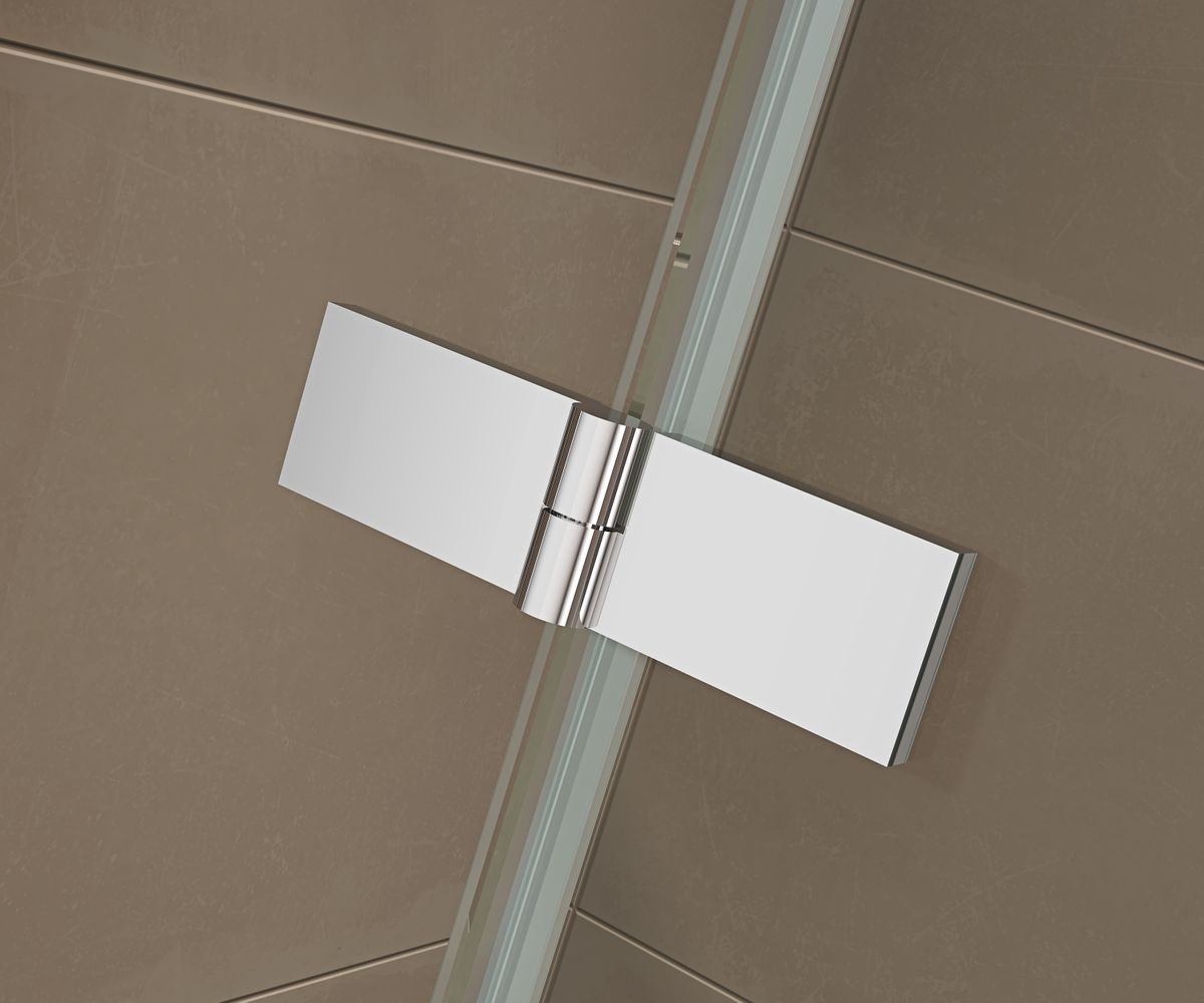 Corner shower enclosure  EX809 - frameless - 6mm tempered glass NANO coating - 80 x 80 x 195 cm – Bild 6