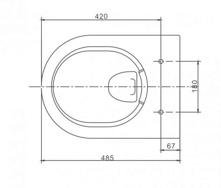 WC-Sparpaket 1: WC NT2038 und Soft-Close Sitz mit Vorwandelement G3004A und Betätigungsplatte vorne – Bild 8
