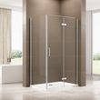 Corner shower enclosure - EX409 - 90 x 120 x 195 cm -  6mm tempered glass NANO