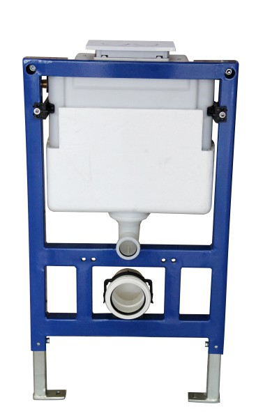 Wall Hung WC  without flushing rim - special saving package 4: NT2039 - and support frame G3005  with satin flush plate  – Bild 3